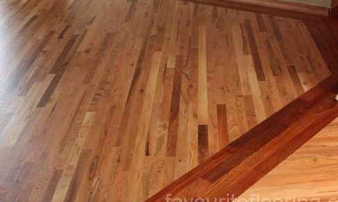 Oak Flooring with Brazilian Cherry Border