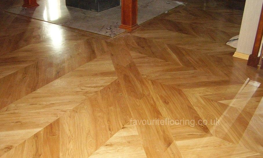 Oak Shevron Parquet with border