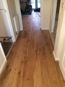 Engineered Rustic Oak flooring finished