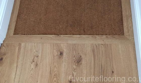 Engineered Rustic Oak flooring doormat framing