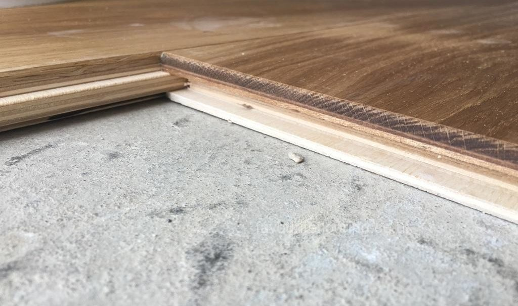 Engineering Oak flooring in progress