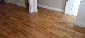Oak planks wood after sanding