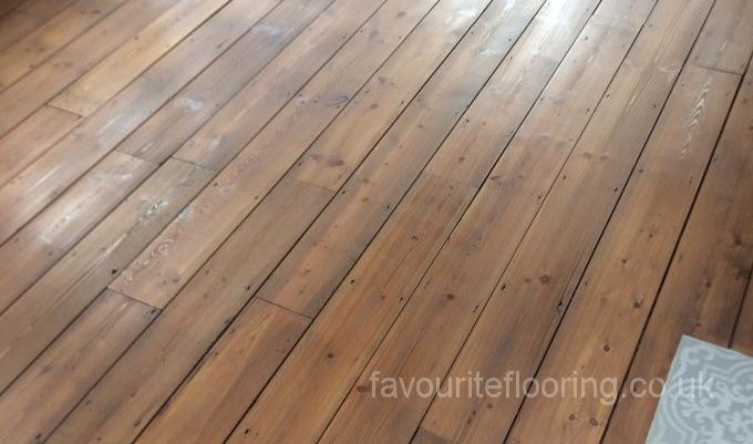 Sanding Pine Boards with stain