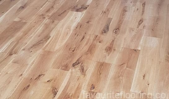 Solid Oak planks oiled