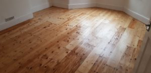 Nice over 100 year pine wood after restoration