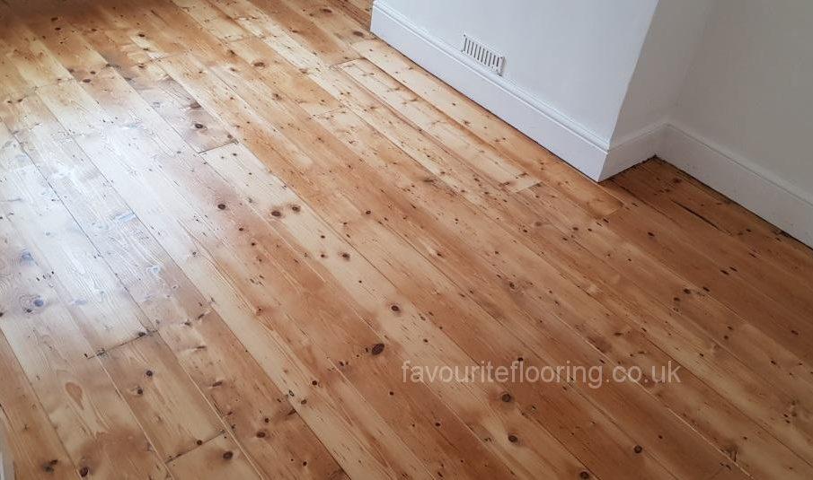 Pine boards after restoration and varnish