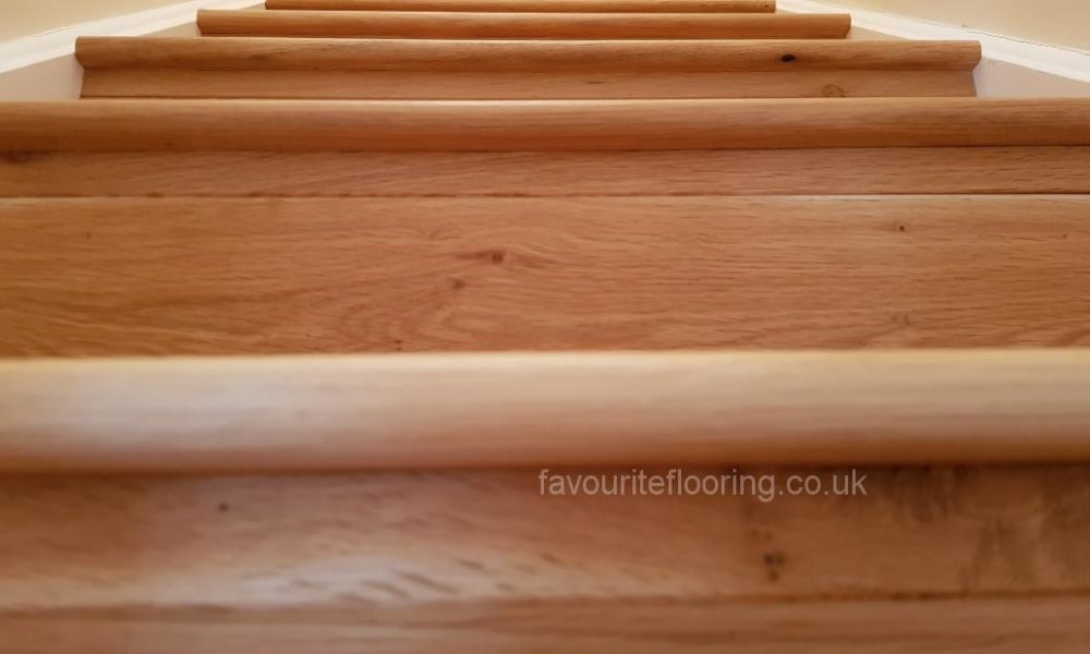 Oak planks steps
