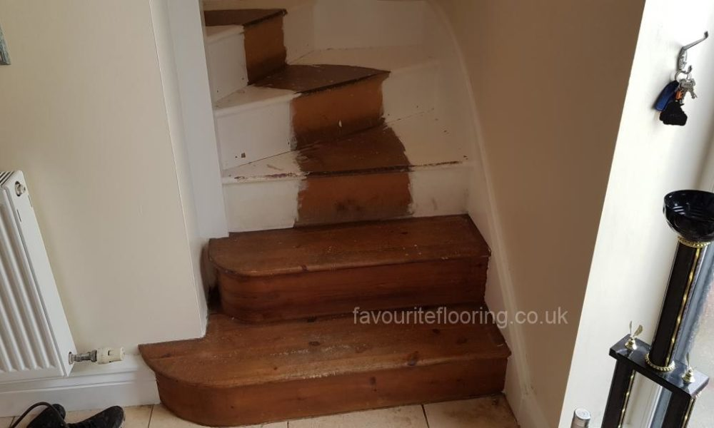 Stairs before cladding with oak planks