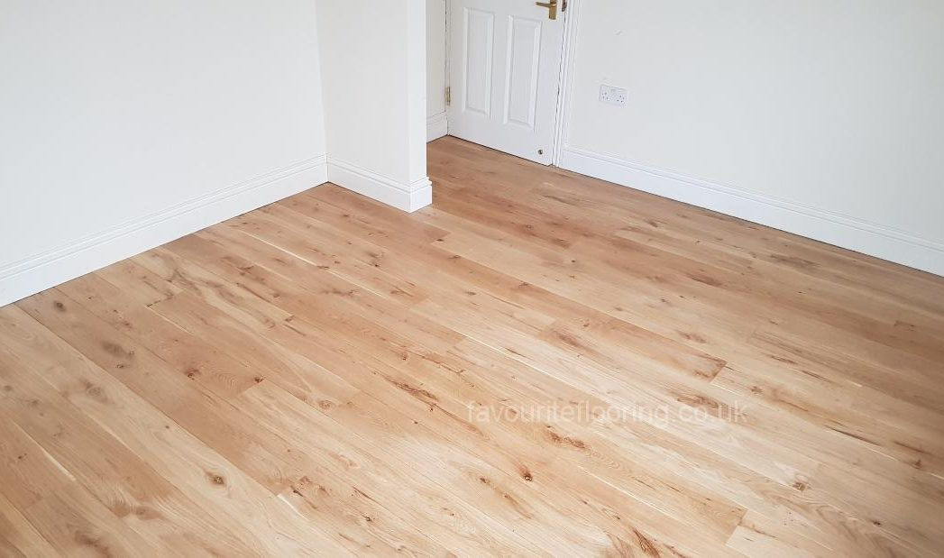 After finished with engineered oak boards