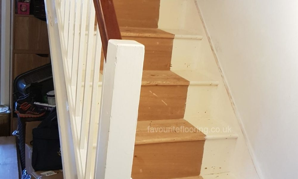 Typical English stairs before transformation