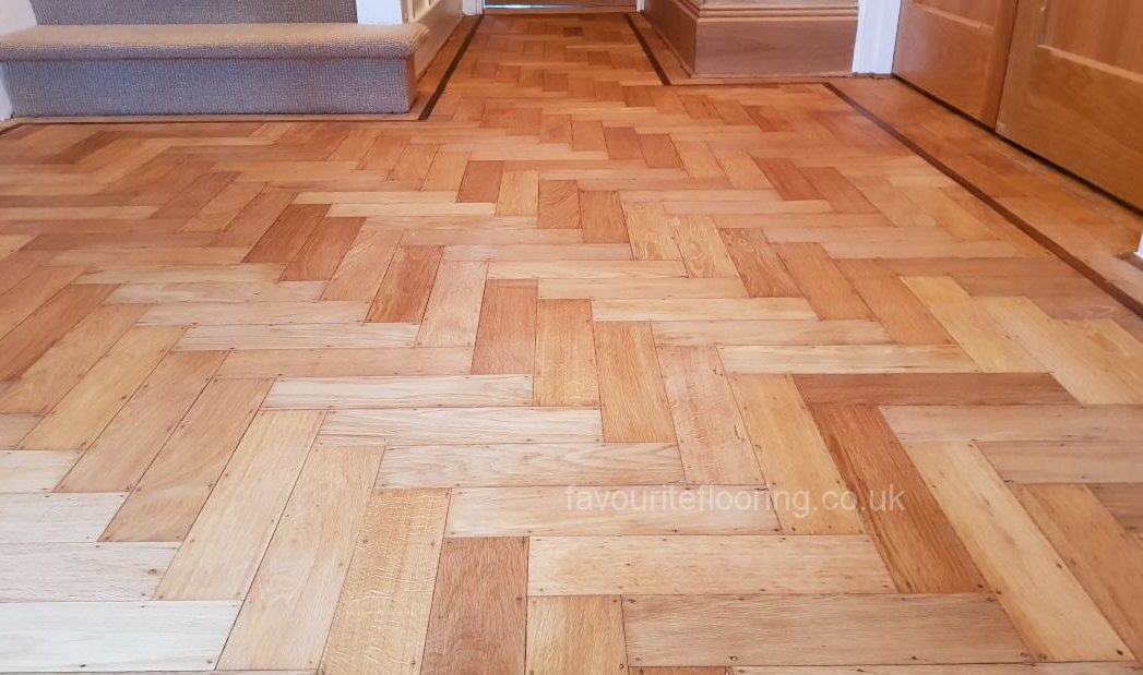 Parquet flooring with mat oil finished