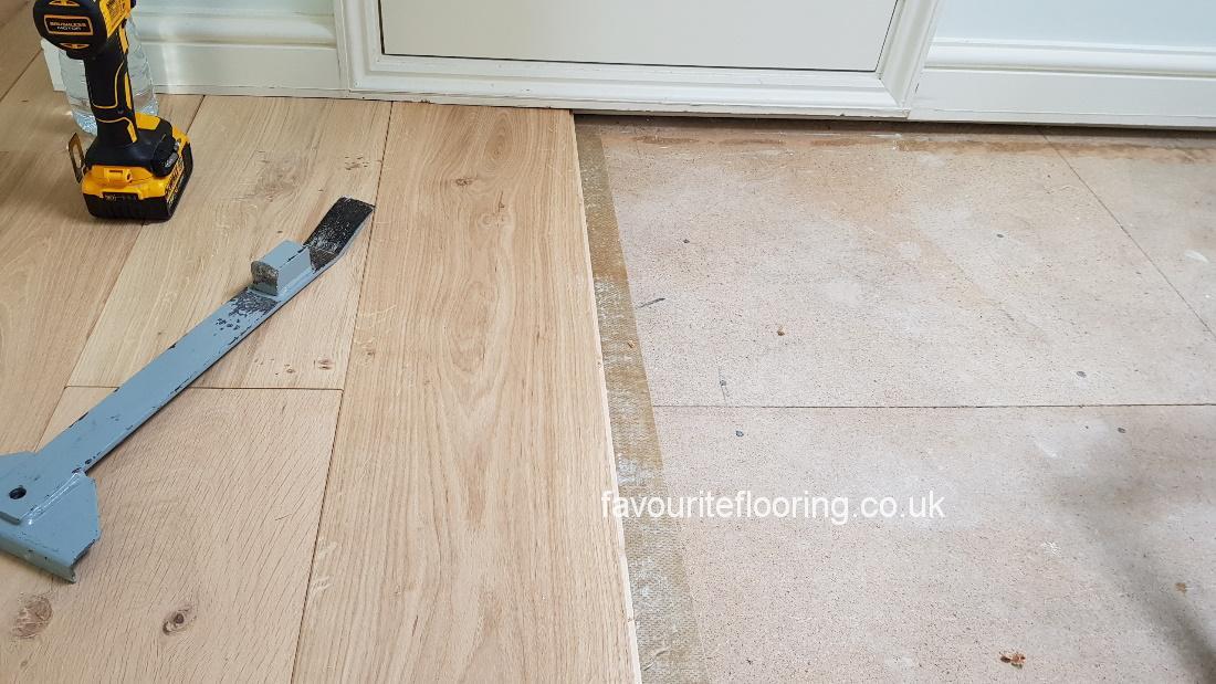 Engineered Oak boards 2200 mm width