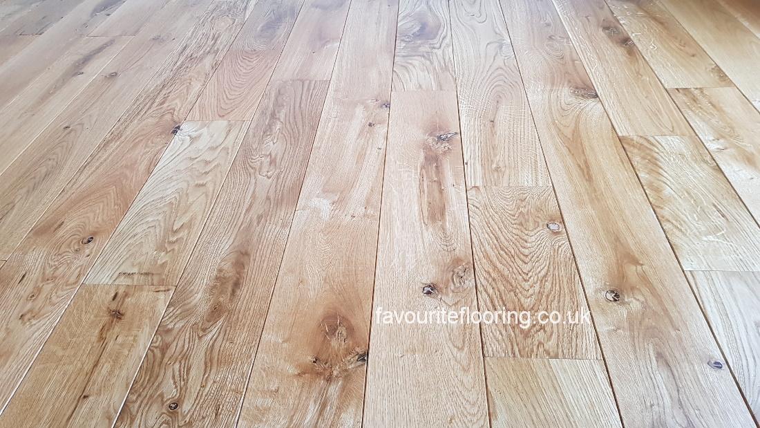 Solid Oak boards.